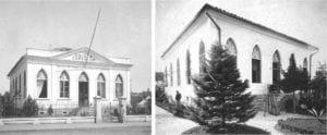 Escola Carvalho em 1891, abrigando a Escola de Artes e Industrias do Paraná.