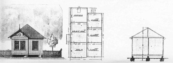 3 – Planta e fachada da casa das famílias.