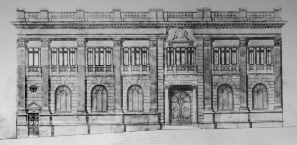 1 – Fachada do Palacete do Banco do Brasil na década de 1920.