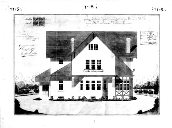 1 – Desenho da fachada frontal da residência.