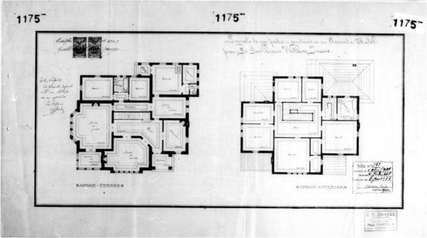 2 - Plantas dos pavimentos térreo e superior