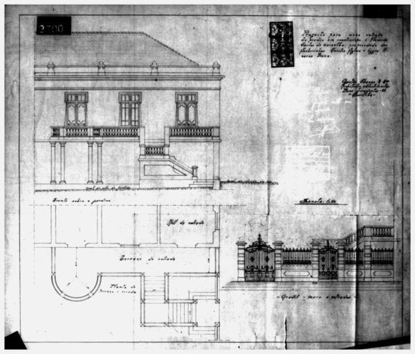 3 – Projeto para nova entrada da residência.
