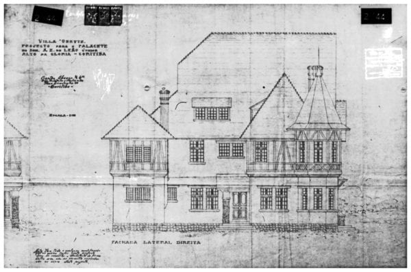 2 – Desenho da fachada lateral direita.