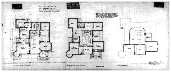 4 - Plantas dos pisos térreo, superior e mansarda.