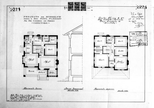 1 - Plantas dos pavimentos térreo e superior.