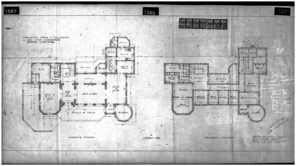 2 – Plantas dos pisos térreo e superior.