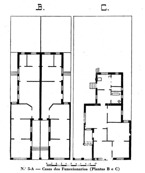 4 - Planta de casa para Funcionários: Classes B e C (1923/1924);