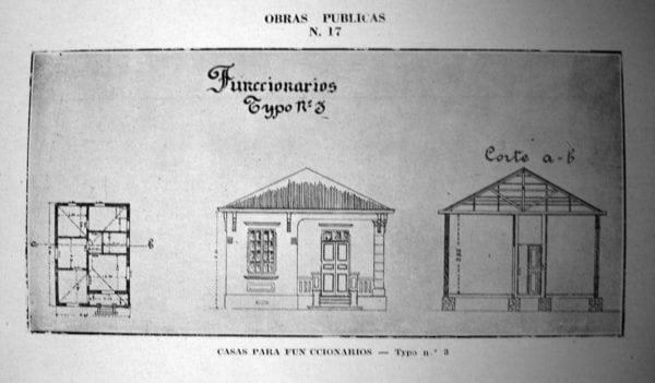 7 - Fachada, planta e corte de Casa Tipo Nº 3 (1924/1925).