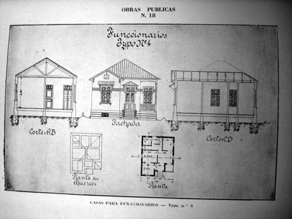 9 - Fachada, planta e cortes de Casa Tipo Nº 4 (1924/1925).