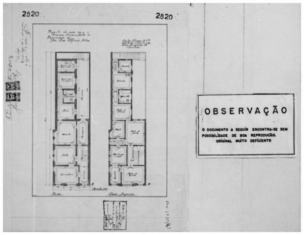 2 – Planta dos pavimentos térreo e superior.