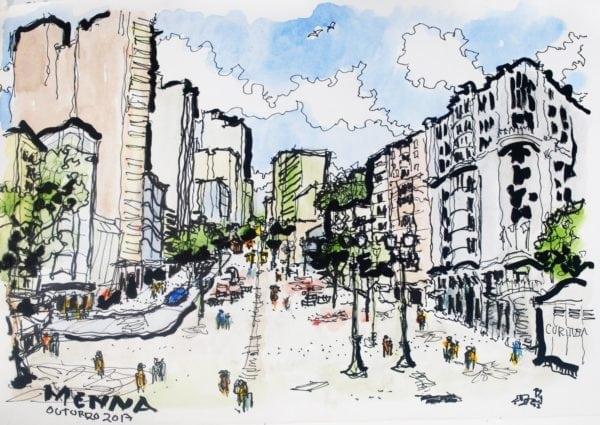 Croquis Urbanos - Claudio Mena Barreto