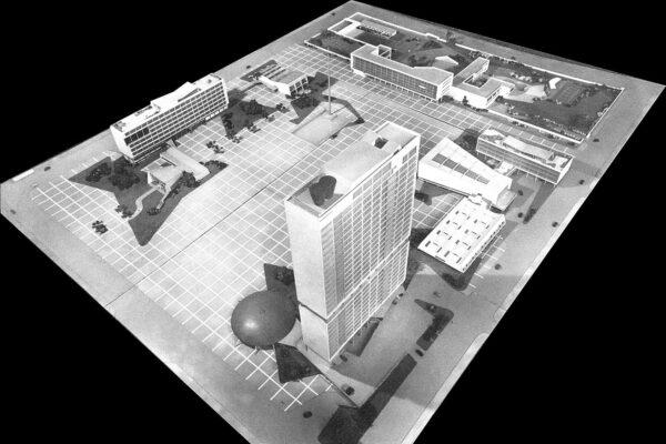 Maquete do Centro Cívico de Curitiba - 1953