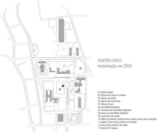Centro Cívico de Curitiba - implantação em 2000