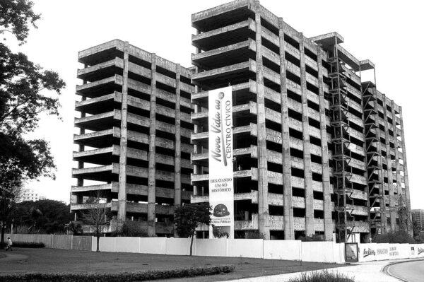 Estrutura de concreto armado para o Fórum, antigo Palácio da Justiça, Centro Cívico de Curitiba - 2004