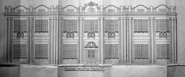 Fachada principal do Laboratório de Análises e Dispensários, em Curitiba - 1926.
