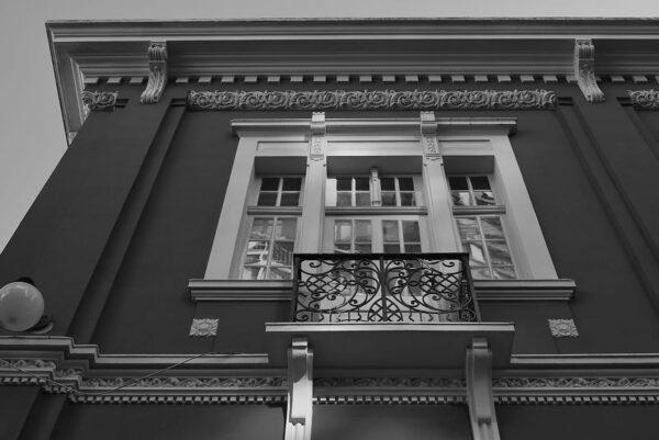 Detalhe de janela do pavimento superior do Museu de Arte Contemporânea de Curitiba - 2009.