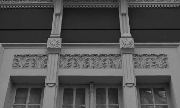 Detalhe de moldura de janela do Museu de Arte Contemporânea de Curitiba - 2009.