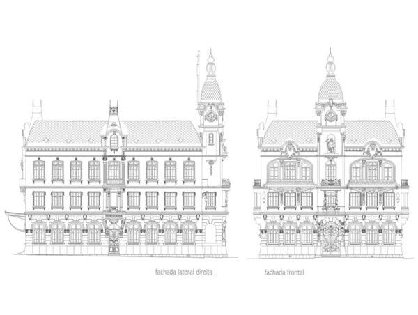 Fachadas do Paço Municipal de Curitiba - 1916.