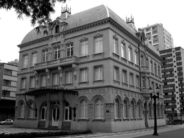 Fachada posterior. Paço da Liberdade, em Curitiba - 2009.