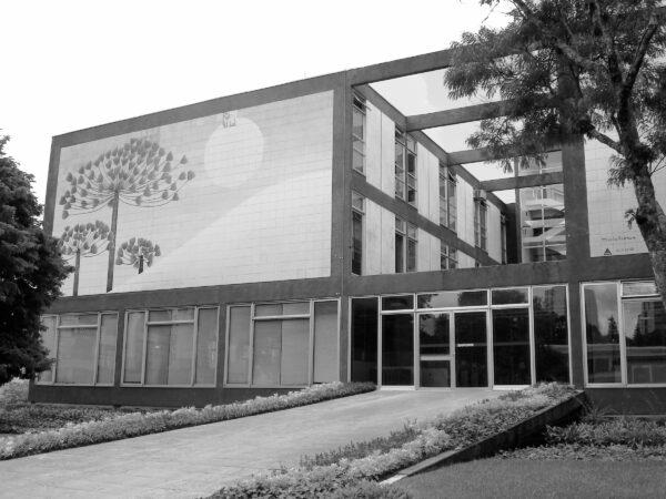Detalhe da fachada frontal. Palácio 29 de Março, em Curitiba - 2009.