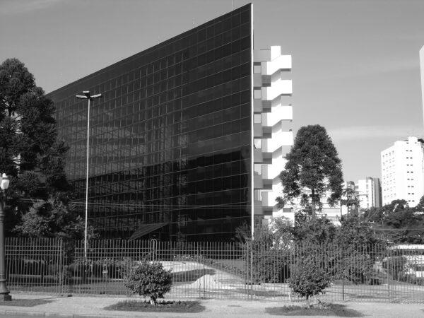 Anexo da Assembleia Legislativa do Paraná. Fachada principal voltada para o Plenário, em Curitiba - 2009.