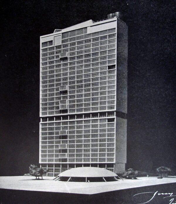 Maquete do Edifício das Secretarias e Pagadoria e Recebedoria, em Curitiba - 1953
