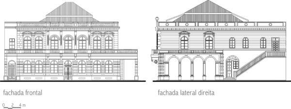 Palácio da Liberdade - Figura 03 - Fachadas palácio do governo - 1890