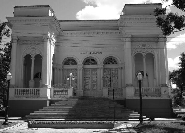 Fachada frontal do Palácio Rio Branco, em Curitiba - 2007.