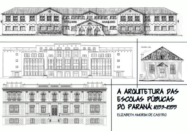 Livro Arquitetura das Escolas do Paraná - Capa frente - Memória Urbana