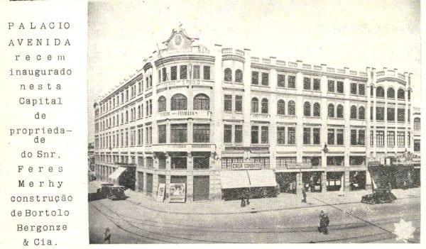 O Palácio Avenida em 1929.