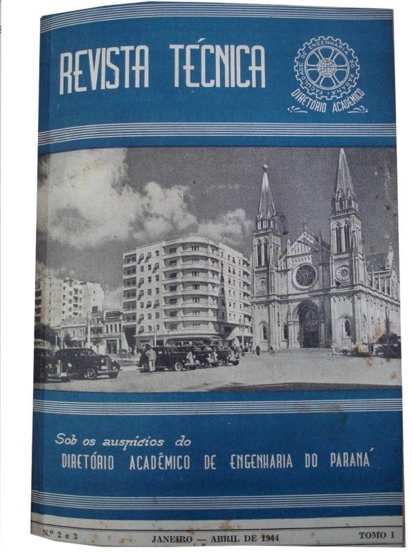 Capa da Revista Técnica de 1944 que mostra o Edifício Nossa Senhora da Luz.
