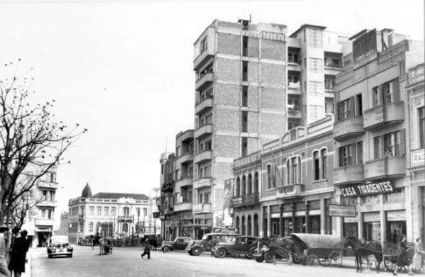 Edifício Santa Rosa na década de 1940.