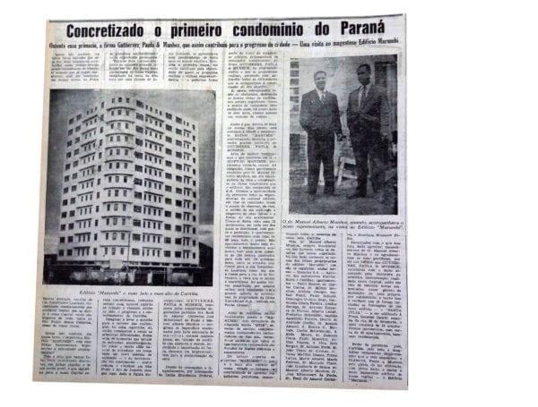 Matéria sobre o Edifício Marumby publicada em 1947.