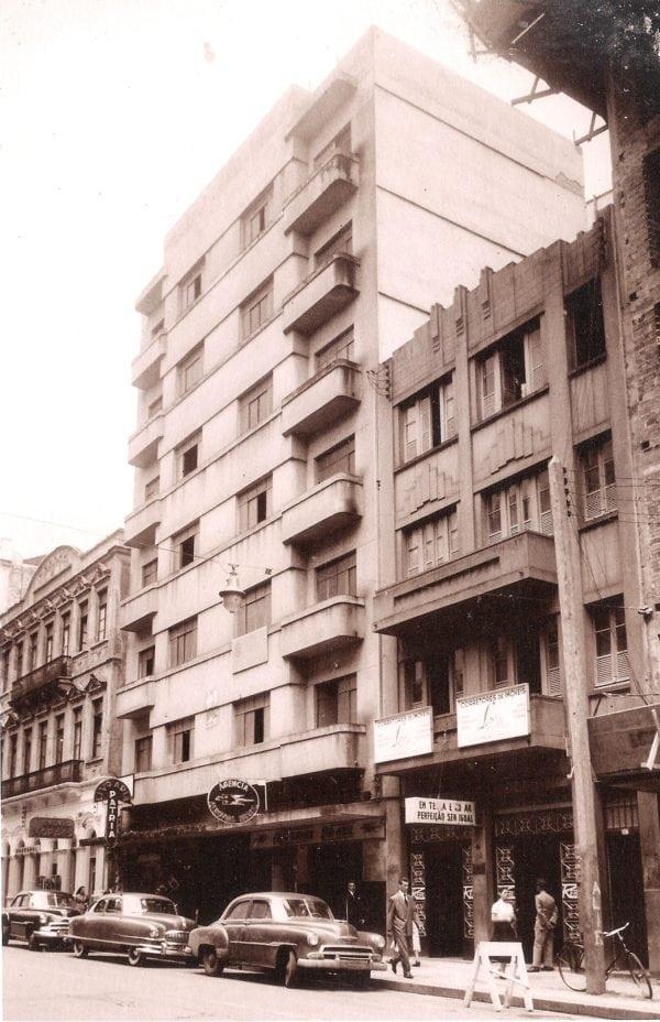 Edifício Ewaldo Wendler na década de 1960.