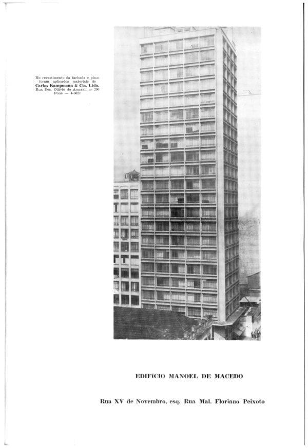 Edifício Manoel de Macedo em 1969.