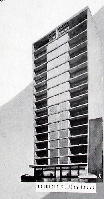 Perspectiva do Edifício São Judas Tadeu; desenho de 1952.