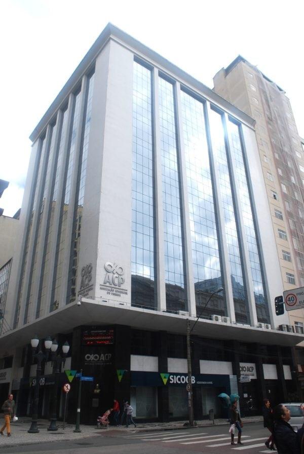 Edifício da Associação Comercial do Paraná em 2017.
