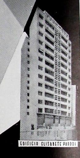 Perspectiva do Edifício Elizabeth Parodi; desenho de 1952.