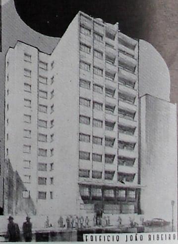 Perspectiva do Edifício João Ribeiro Junior; desenho de 1952.
