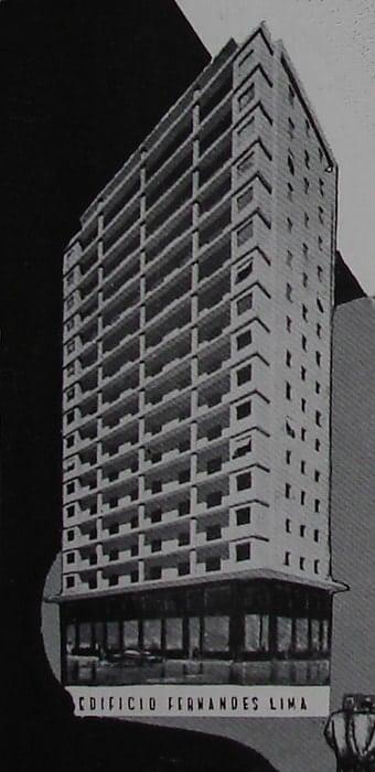 Perspectiva do Edifício Fernandes Lima; desenho de 1952.
