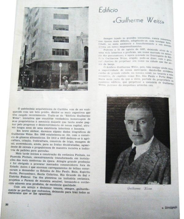 Matéria sobre o Edifício Guilherme Weiss em 1955.