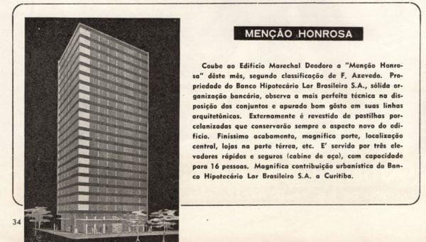 Matéria sobre o Edifício Marechal Deodoro publicada em 1947.