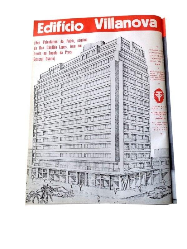 Perspectiva do Edifício Villanova; desenho de 1959.