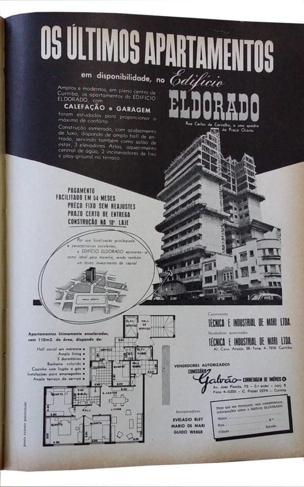 Anúncio de venda dos apartamentos do Edifício Eldorado em 1959.
