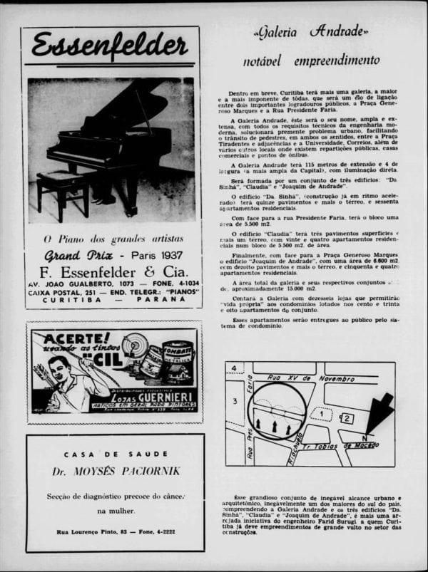Anúncio da Galeria Andrade em 1959.