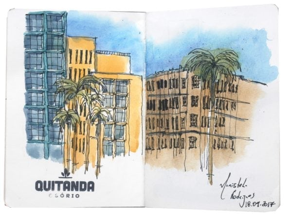 Croquis Urbanos - Maristela Rodrigues de Oliveira