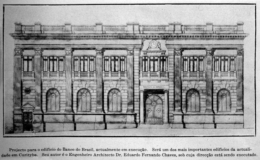 Banco do Brasil (demolido) fonte: EMPREZA EDITORA BRASIL. A Historia Politica do Estado do Paraná. São Paulo: Capri & Olivero, 1923.