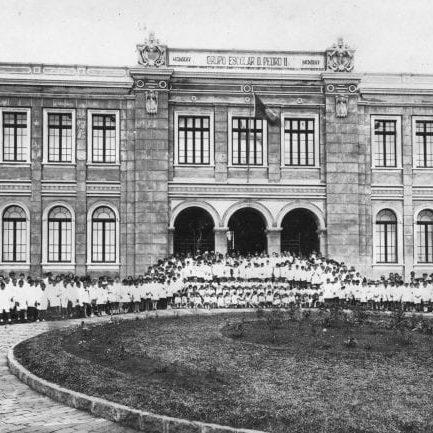 Grupo Escolar D. Pedro II no final da década de 1920.