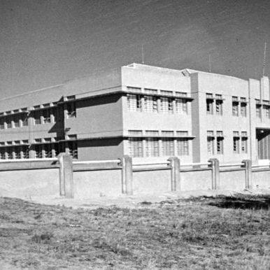 Ginásio Estadual Rui Barbosa na década de 1940.