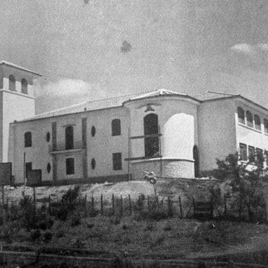 Grupo Escolar Lysimaco Ferreira da Costa em construção, no ano de 1945.